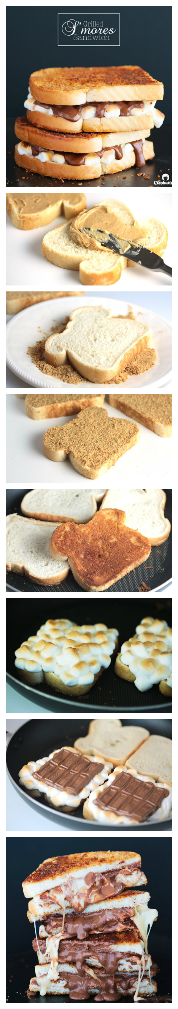 grilled smores sandwich - pinterest