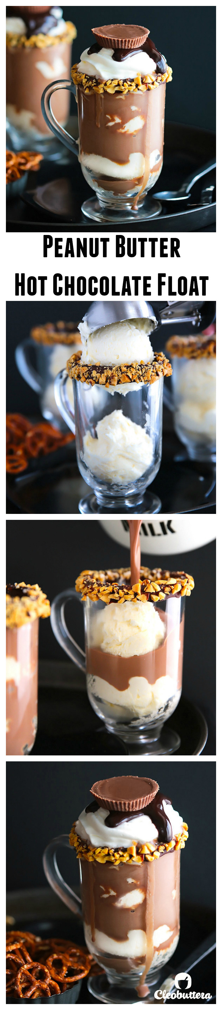 Peanut Butter Hot Chocolate Float - Pinterest