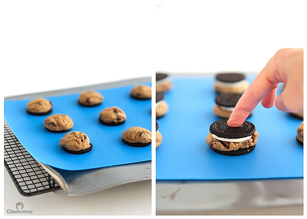 Chocolate Chip Cookie stuffed Oreos...The all-time favorite chocolate chip cookie, baked inside milk's favorite cookie! The Double Stuf baby!