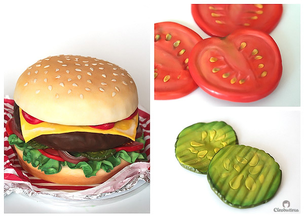 Fast Food Cakes...A complete meal of cheeseburger, hotdog and cola made with a 100% cake and covered in fondant. (Time-lapse video included).