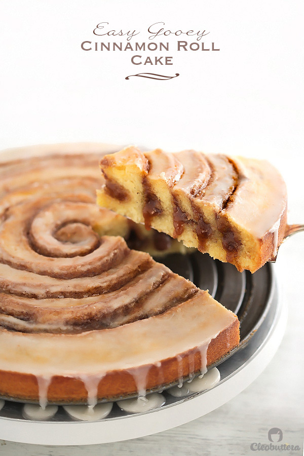 Gooey Cinnamon Roll Cake | Cleobuttera