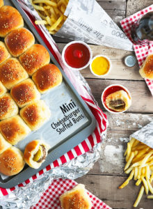 Mini Cheeseburger-stuffed Buns