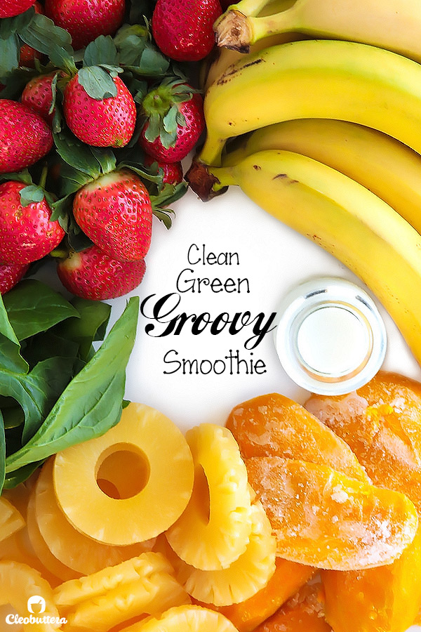 Clean Green Groovy Smoothie {Tastes like a delicious tropical drink and not a stick of vegetable} Sugar-Free, Vegan, Gluten Free, Dairy-Free