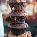 Galaxy Chunk Chocolate Muffins {Perfectly moist and tender with swirls of Galaxy chocolate bar in every bite...BEST EVER DOUBLE CHOCOLATE MUFFIN!}
