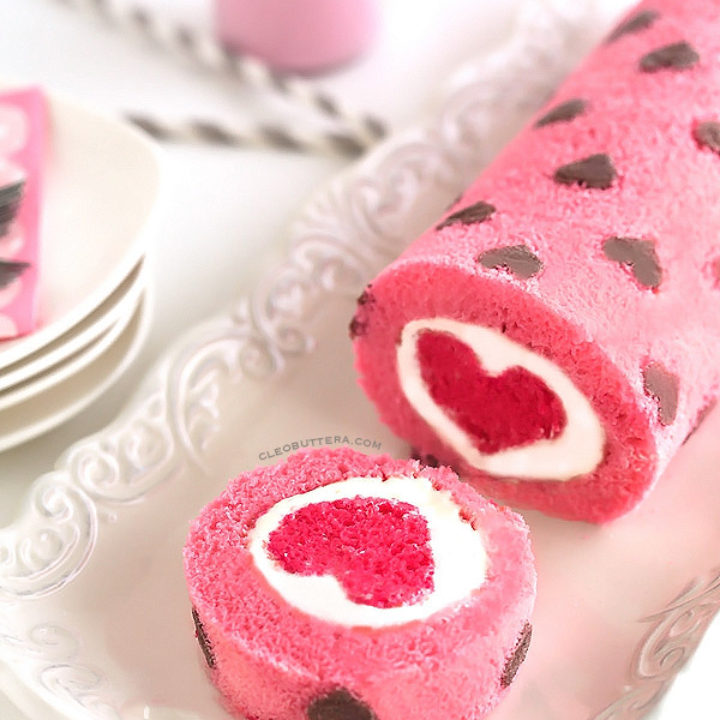 Love Is All Around Cake Roll Cleobuttera