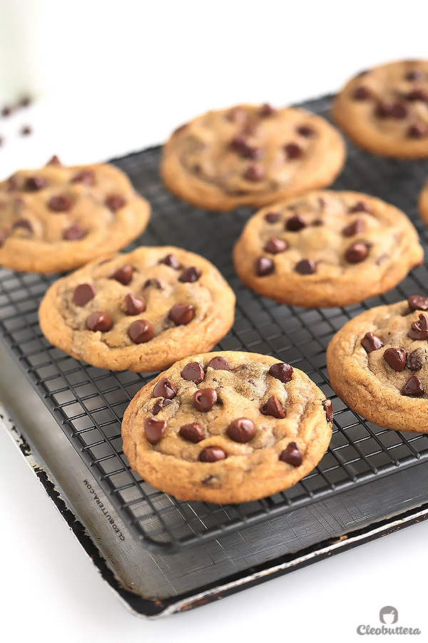 FAVORITE CHOCOLATE CHIP COOKIES- {Soft and chewy with perfectly crisp edges. Browned butter takes them to a whole new level of toffee-like deliciousness. Step-by-step pictures included}