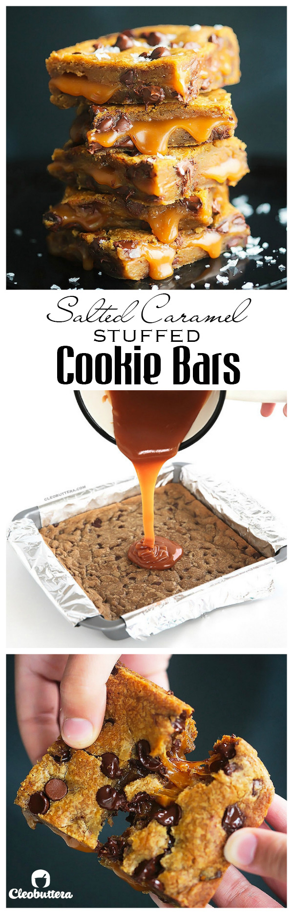 salted caramel cookie bars - pinterest