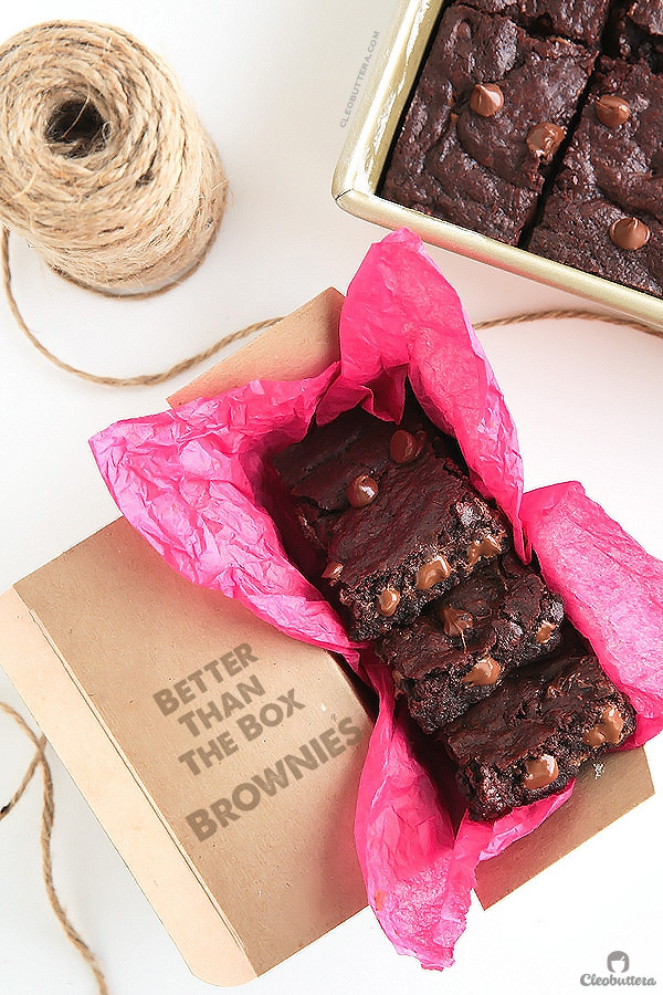 Super Fudgy Better Than the Box Brownies {Some of the chewiest, fudgiest and most chocolatey brownies you'll ever taste. So quick and easy too!}