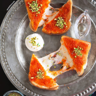 Kanafeh Grilled Cheese Sandwich
