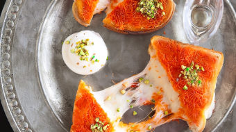Kanafeh Grilled Cheese Sandwich {If you love cheese kanafeh, you're gonna go nuts over this sandwich version of it!}
