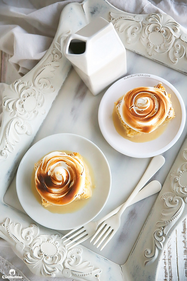 Tres Leches Cake with Toasted Marshmallow Frosting
