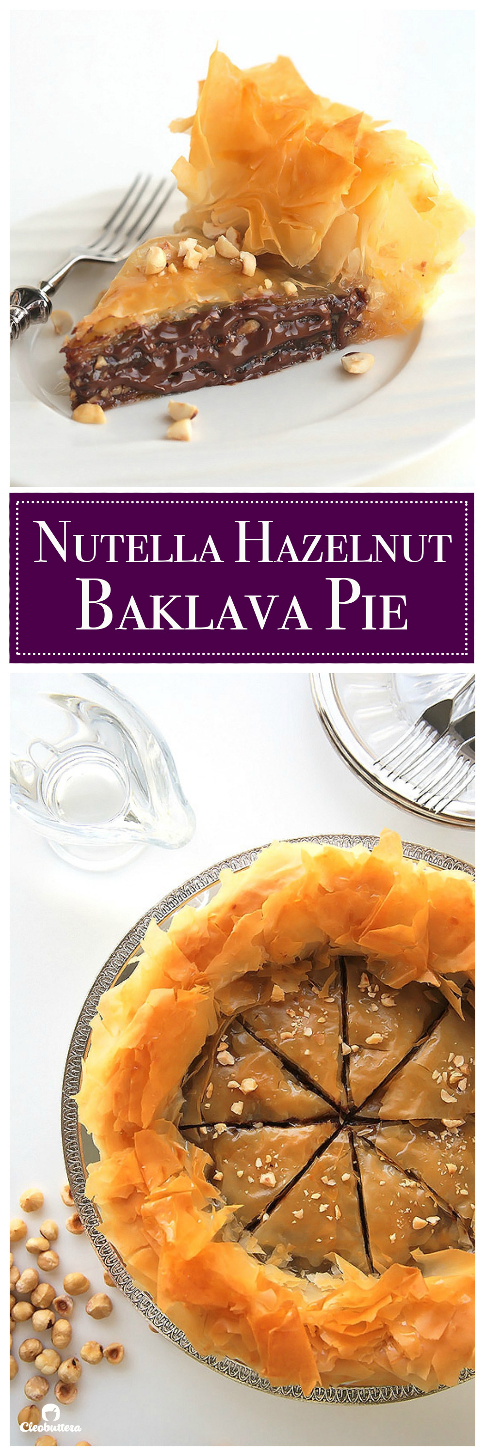 Nutella Baklava Hazelnut Pie - pinterest