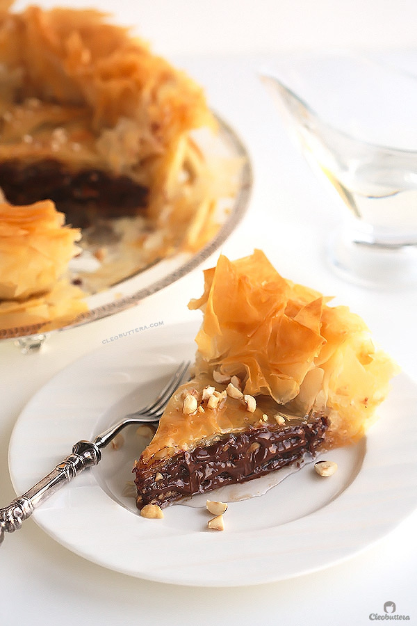 Nutella Hazelnut Baklava Pie