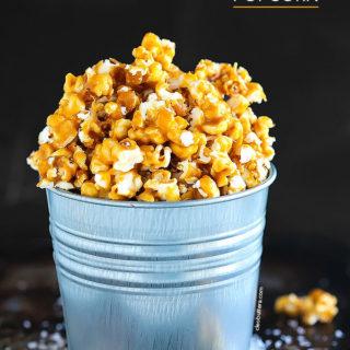 No Bake Salted Caramel Popcorn