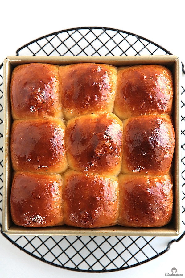 Ultra Fluffy Milk Bread Rolls Cleobuttera