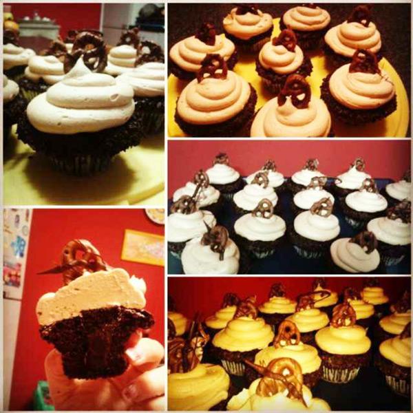Peanut Butter Fudge Lava Cupcakes (Baking Buddies)