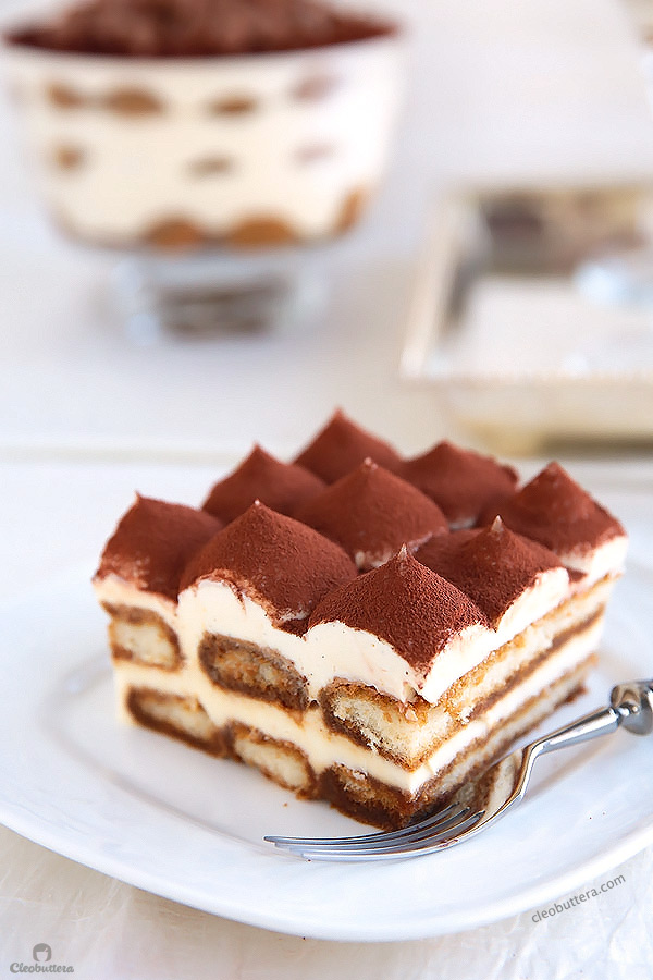 A surprising addition makes this every bit as delicious as the classic Tiramisu, without any of the raw egg dilemma. It's exceptionally good!