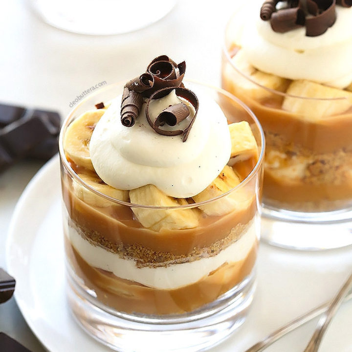 Banoffee Pie Cups Cleobuttera