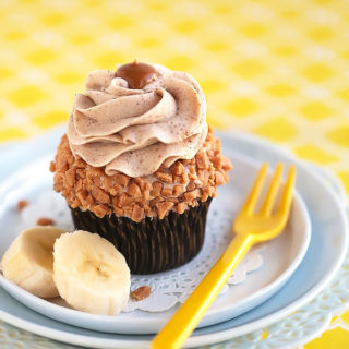Banana Cupcakes with Browned Butter Cinnamon Cream Cheese Frosting