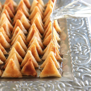 Mini Cream Cheese Sweet Samosas (Samboosak)