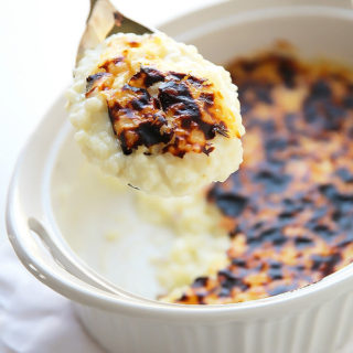 Dreamy Creamy Broiled Rice Pudding