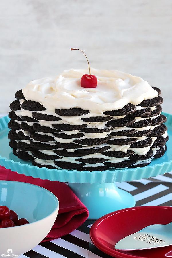 No Bake Oreo Cake Cleobuttera