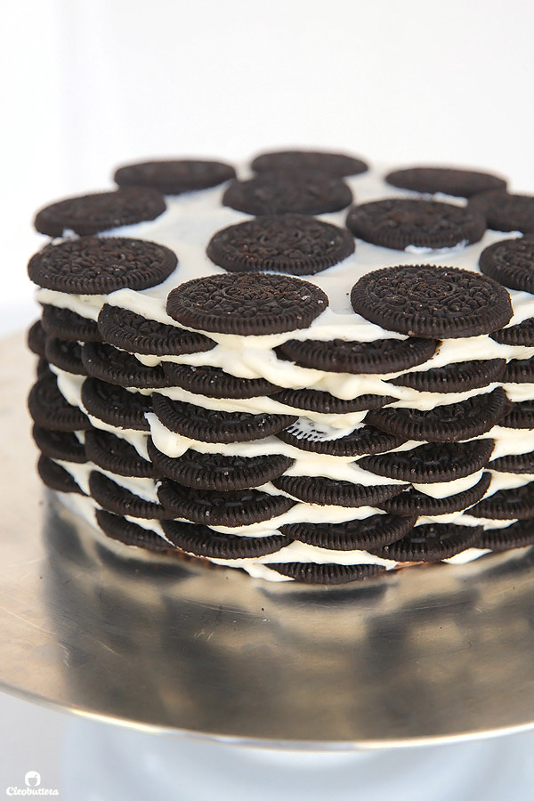Alternating Layers Of Oreos And Oreo Filling Flavored Whipped Cream Make Up For One Incredibly