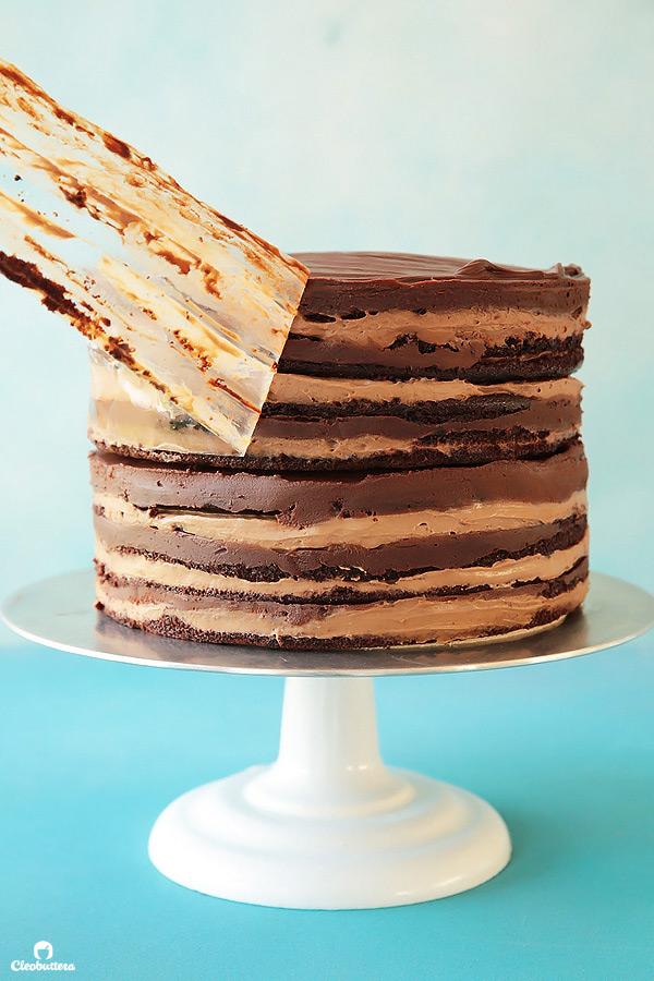 Epic 12 Layer Chocolate Cake | Cleobuttera