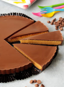 This blown up version of Reese's is literally the BIGGEST treat forpeanut butter cup lovers! Ittastes so much like thereal thing and it doesn't hurt that its NO bake and so easy to make!