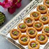 Crunchy phyllo rings with a creamy chocolate center, a sprinkling of sea salt and fragrant pistachios!  Plus...recipe VIDEO included!