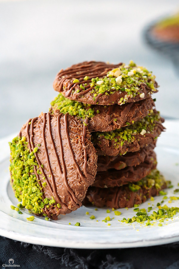 Chocolate Kunafa Cookies