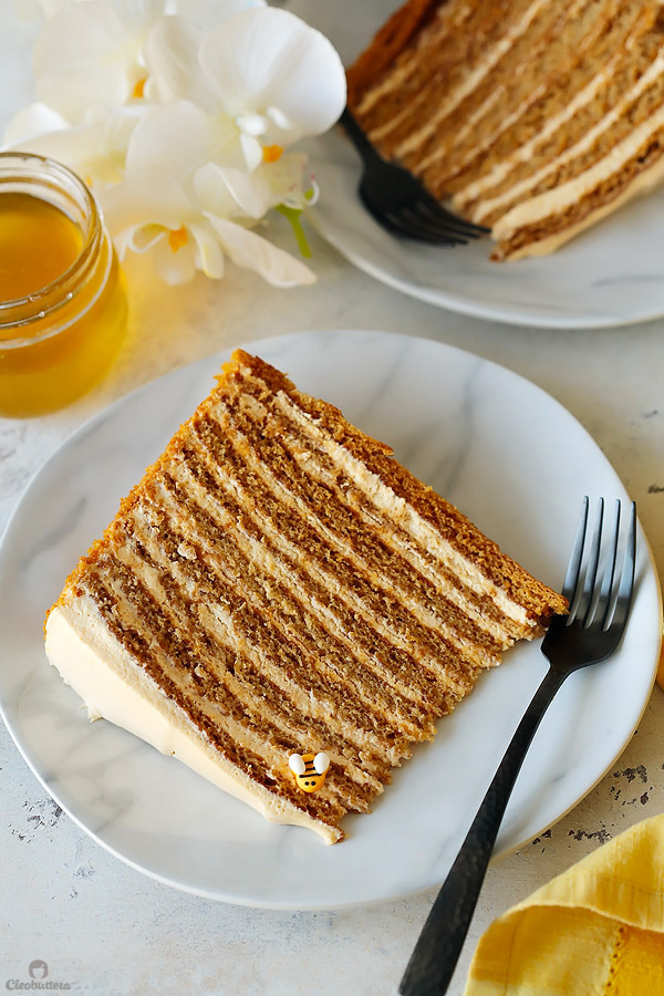 The Most Amazing Russian Honey Cake Cleobuttera