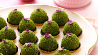A traditional Middle Eastern delicacy with a new twist! A semolina-based pistachio concoction, with an ashta cream surprise center, is turned into bite-sized truffles for the ultimate party treat!  A simpler, traditional method also included.  Plus...recipe VIDEO at the end of the post!