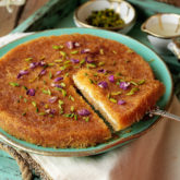 The easiest, quickest and most versatile kunafa there is!  With a sweet and tangy creamy ricotta filling, signature crunchy crust and lightly scented sugar syrup, this kunafa will likely become your new go-to!